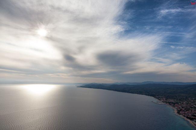 Grecja, Polwysep Chalcydycki - Sithonia peninsula. Zatoka Gulf of Toroni. EU, PL,