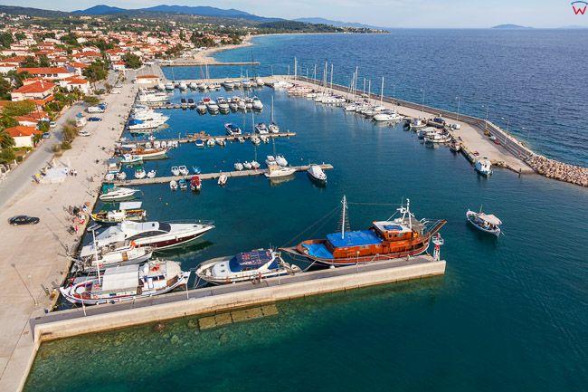 Grecja, Polwysep Chalcydycki - Sithonia peninsula. Zatoka Gulf of Toroni zachodnie wybrzeze. EU, PL,