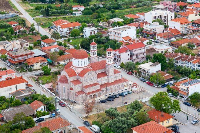 Grecja, Polwysep Chalcydycki - Nea Propontida Municipality. EU, PL, Lotnicze