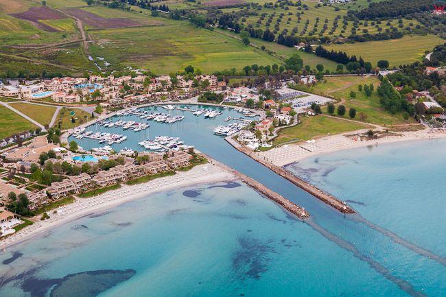 Grecja, Polwysep Chalcydycki - Nea Propontida Municipality. Sani Resort Marina. EU, PL, Lotnicze