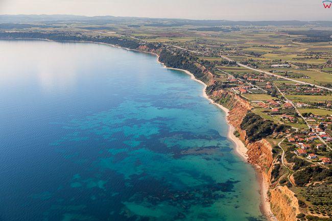 Grecja, Polwysep Chalcydycki - Nea Propontida Municipality. Ztoka Gulf of Toroni. EU, PL, Lotnicze