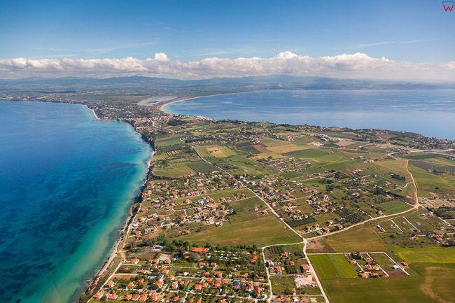Grecja, Polwysep Chalcydycki - Nea Propontida Municipality i Zatoki Termajska i Gulf of Toroni. EU, PL, Lotnicze