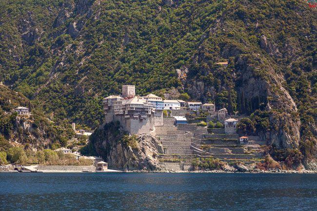 Grecja, Polwysep Chalcydycki - Athos. Monastery of St. Dionysios. EU, PL,