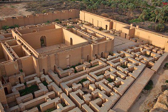 Irak, Babilon. Starozytne miasto, Palac Krolewski,