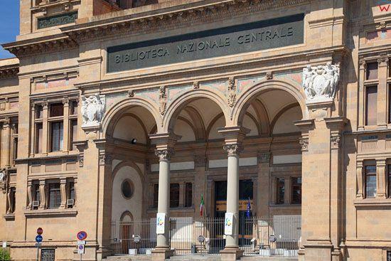 Biblioteca Nazionale Centrale di Firenze. Piazza dei Cavallegger. EU, Italia, Florencja.