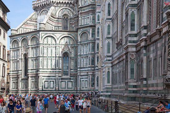 Basilica of Saint Mary of the Flower we Florencji. EU, Italia.