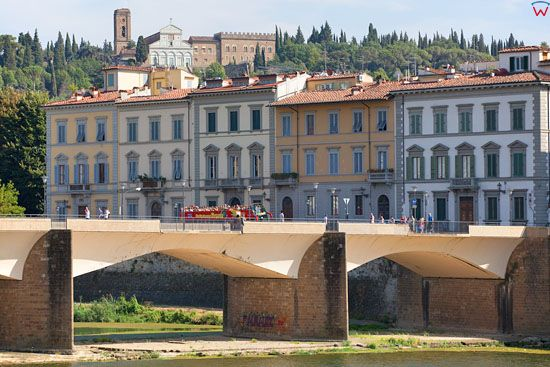 Most Ponte Alle Grazie we Florencji. EU, Italia.