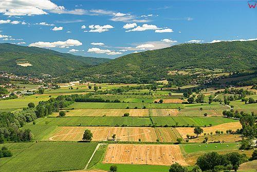 Włochy-Italia.Toscana-Toskania. Okolica miasta Poppi.