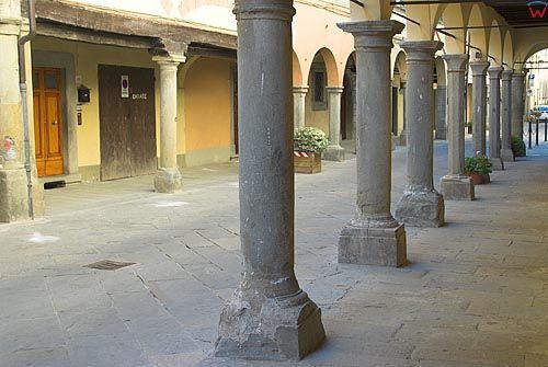 Włochy-Italia.Toscana-Toskania. Miasteczko Poppi.