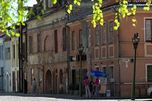Litwa-Kowno (Kaunas). Kamienice przy ulicy Wileńskiej