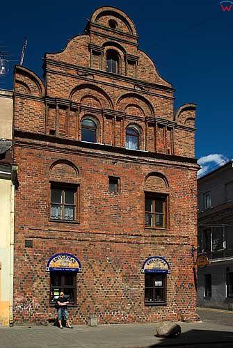 Litwa-Kowno (Kaunas). Gotycka zabudowa przy ul. Wileńskiej.