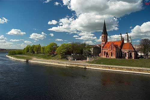 Litwa-Kowno (Kaunas). Kościół Witolda nad Niemnem.