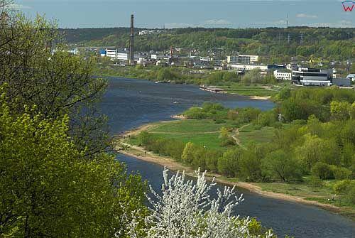 Litwa-Kowno (Kaunas). Panorama ze wzgórza Aleksotas.