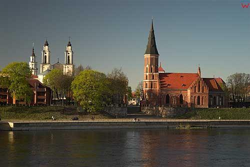 Litwa-Kowno (Kaunas). Panorama Kowna.