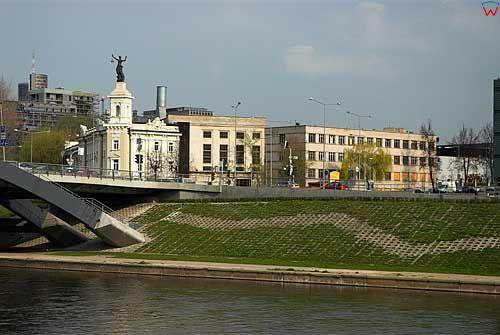 Litwa-Wilno. Panoramama przez Wilię na ul. Rinkines