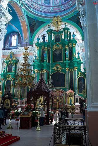 Litwa-Wilno. Wnętrze cerkwi św. Ducha.