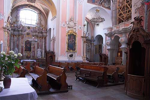Litwa-Wilno. Wnętrze kościoła św. Ducha.