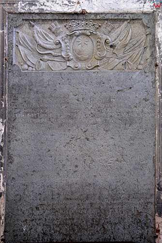 Litwa-Wilno. Wmurowane tablice w kościele Bernardynów.