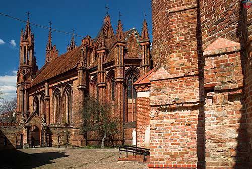 Litwa-Wilno. Kościół św. Anny.