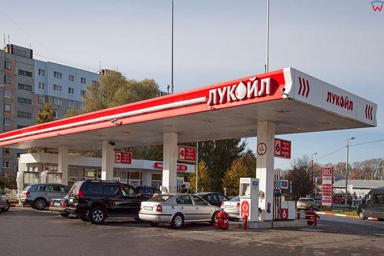 Kaliningrad, stacja paliw przy ulicy Butkowa. EU, Rosja-Obwod Kaliningradzki.