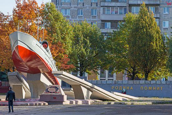Kaliningrad, Pomnik Morijakam Baltijcam. EU, Rosja-Obwod Kaliningradzki.