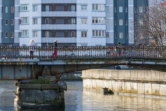 Kaliningrad, Most Miodowy (zakochanych). EU, Rosja-Obwod Kaliningradzki.