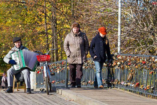 Kaliningrad, Most Miodowy. EU, Rosja-Obwod Kaliningradzki.
