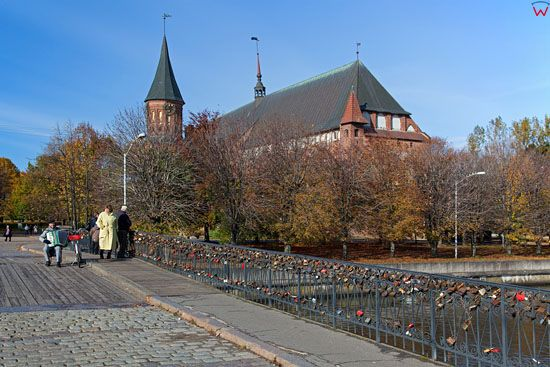 Kaliningrad, Katedra przy ul. Kanta. EU, Rosja-Obwod Kaliningradzki.