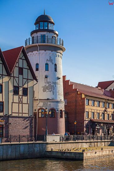 Kaliningrad, latarnia morska. EU, Rosja-Obwod Kaliningradzki.