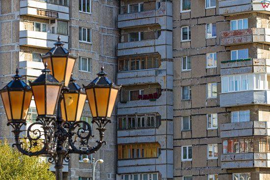 Kaliningrad, blokowiska przy ulicy Oktiabrskiej. EU, Rosja-Obwod Kaliningradzki.