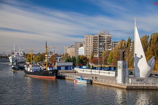 Kaliningrad, nabrzeze Piotra Wielkiego. EU, Rosja-Obwod Kaliningradzki.