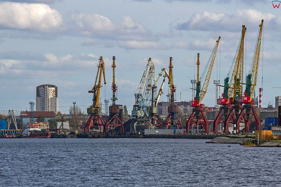 Kaliningrad, port nad rzka Pregola. EU, Rosja-Obwod Kaliningradzki.