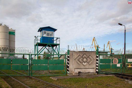 Kaliningrad, straznica Kalingradzkij Morskoj Torgowyj Port. EU, Rosja-Obwod Kaliningradzki.