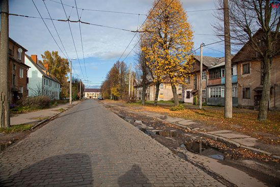 Kaliningrad, ulica Transportnaja. EU, Rosja-Obwod Kaliningradzki.