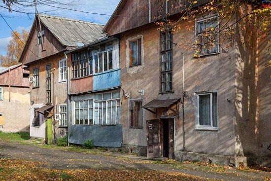 Kaliningrad, zabudowa przy ulicy Transportnaja. EU, Rosja-Obwod Kaliningradzki.
