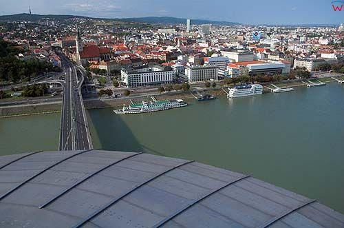 Bratysława, widok z wieży restauracji