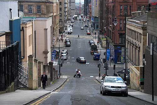 Szkocja-Glasgow. Ulice miasta.