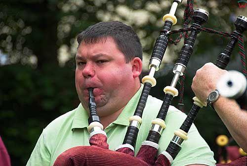 Szkocja-Glasgow. Proby muzyczne przed Piping festival.