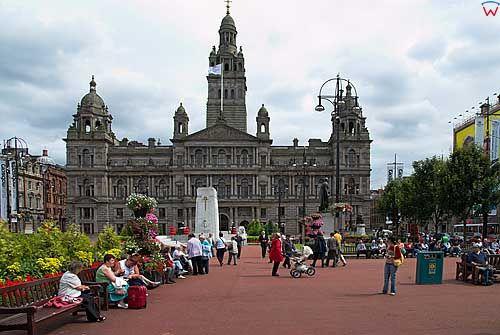 Szkocja-Glasgow. Ratusz.