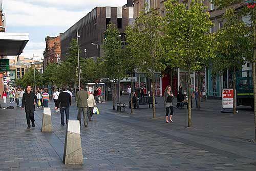 Szkocja-Glasgow. Deptak w miescie.