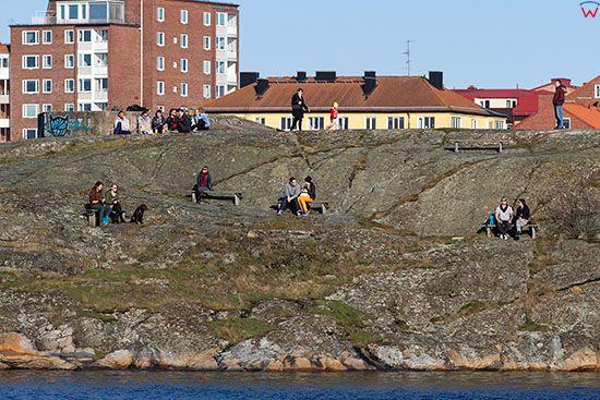 Karlskrona, kamienna wyspa Stakholmen. EU, Szwecja.