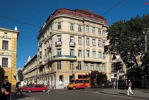 Lwów. Architektura przy Prospekcie Swobody.