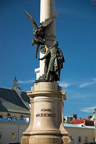 Lwów. Pmnik Adama Mickiewicza przy prospekcie Swobody.