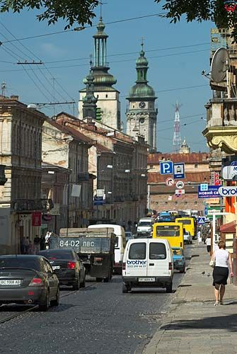 Lwów. Ulica Łyczakowska.