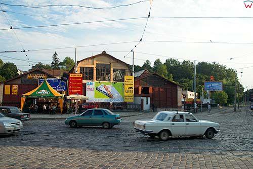 Lwów. Stara zajezdnia tramwajowa przy ul. Hwardyjskiej
