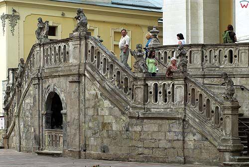 Lwów. Schody przed Katedrą św. Jura.