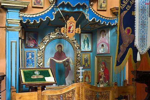 Lwów. Wnętrze cerkwi Włoskiej (Uspieńskiej).