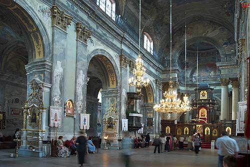 Lwów. Wnętrze cerkwi św. Michaiła.
